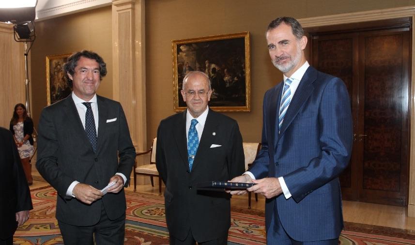 Encuentro con su majestad el Rey de España